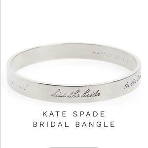 Idiom Happily Ever After Wedding Bangle Bracelet